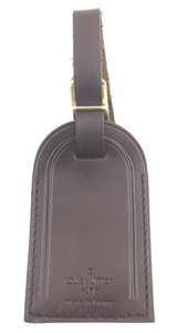 Louis Vuitton #16184 brown smooth calf Leather Luggage Tag keepall alma speedy