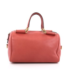 Dolce&Gabbana Dolce & Gabbana Leather Satchel in Coral