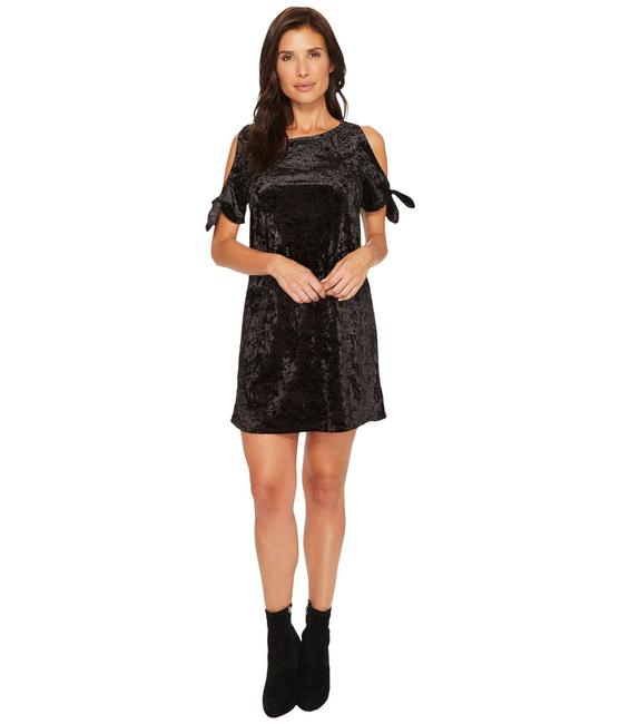 Sanctuary Velvet Open Shoulder Shift Dress
