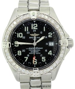 Breitling 2CT Stainless Steel Superocean with Diamond Bezel WITH APPRAISAL