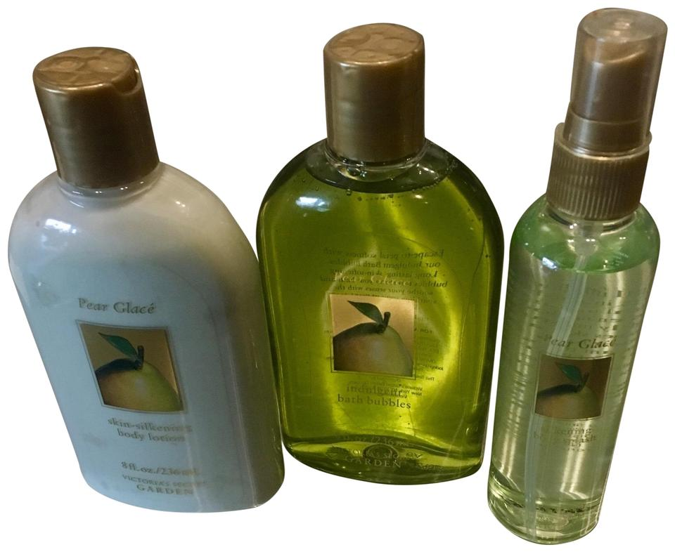 1485d83747ef5 Victoria's Secret Green Discontinued Pear Glacé Body Splash Shower Gel and  Lotion Fragrance