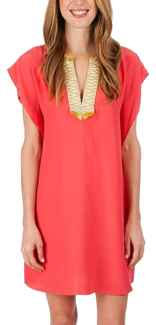 Preload https://item1.tradesy.com/images/elaine-turner-salmon-pink-gabriella-short-night-out-dress-size-6-s-22687500-0-2.jpg?width=400&height=650