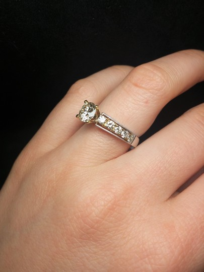 Magnificent Two-tone Diamond Engagement Ring