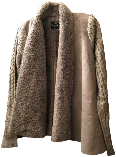 Preload https://item5.tradesy.com/images/dolce-cabo-grey-faux-cardigan-coat-size-8-m-22687549-0-1.jpg?width=400&height=650