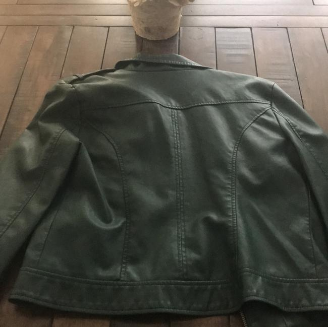 BB Dakota Dark Green Leather Jacket