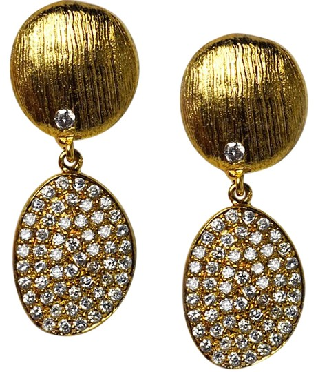Preload https://img-static.tradesy.com/item/22687620/ny-collection-yellow-womens-white-cz-dangle-drop-golden-sterling-silver-earrings-0-1-540-540.jpg