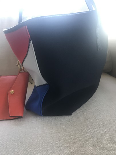 Cynthia Rowley Yachting Summer Nautical Tote in Red, white, blue and black