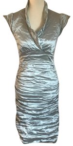 Nicole Miller Techno Metal Ruched Dress