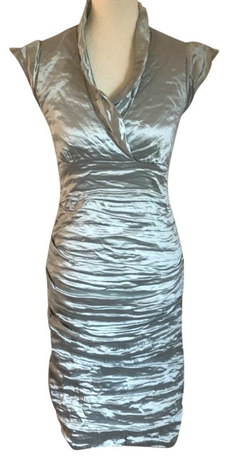 Preload https://item1.tradesy.com/images/nicole-miller-sage-techno-metal-short-cocktail-dress-size-6-s-22687690-0-1.jpg?width=400&height=650