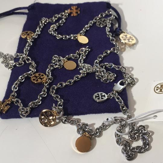 Tory Burch Logo Chain Rosary Necklace