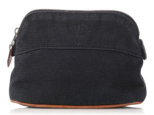 Hermès Black Canvas Bolide Cosmetic Case