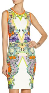Roberto Cavalli Orange Floral Garden Party Dress