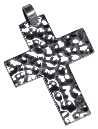 Preload https://item2.tradesy.com/images/silver-womens-mens-hammered-finish-religious-cross-pendant-925-sterling-necklace-22687861-0-1.jpg?width=440&height=440