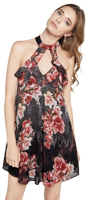 BCBGeneration Trapeze Rose Floral Glam Dress