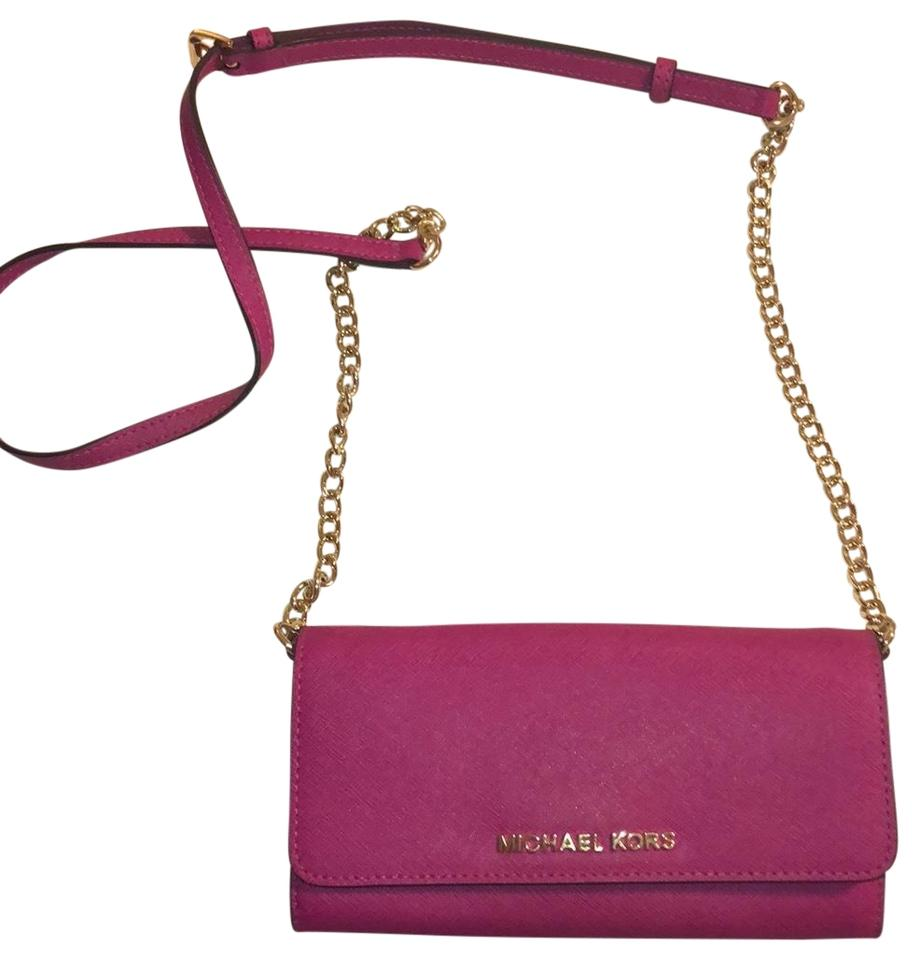3bbe6793f3ab MICHAEL Michael Kors Wallet On A Chain Pink Cross Body Bag - Tradesy