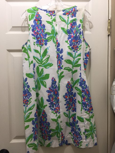 Lilly Pulitzer short dress White Floral Unique on Tradesy