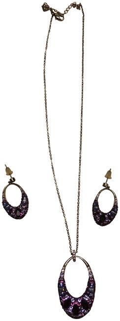 Item - Silver Amethyst Pendant and Earring Set