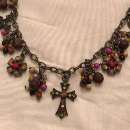 Premier Designs premier design bronze color metal necklace with beads and crystals