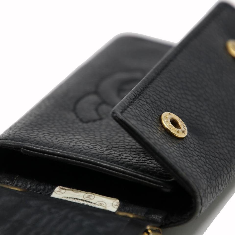 12c2f337a3b1f7 Chanel Signature Caviar Leather CC Logo 6 Ring Key Case Pouch Wallet Image  9. 12345678910