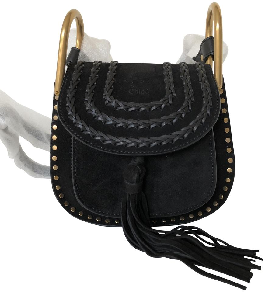 ad9c4bd6 Chloé Hudson Mini Tasseled Black Suede Leather Cross Body Bag 52% off retail