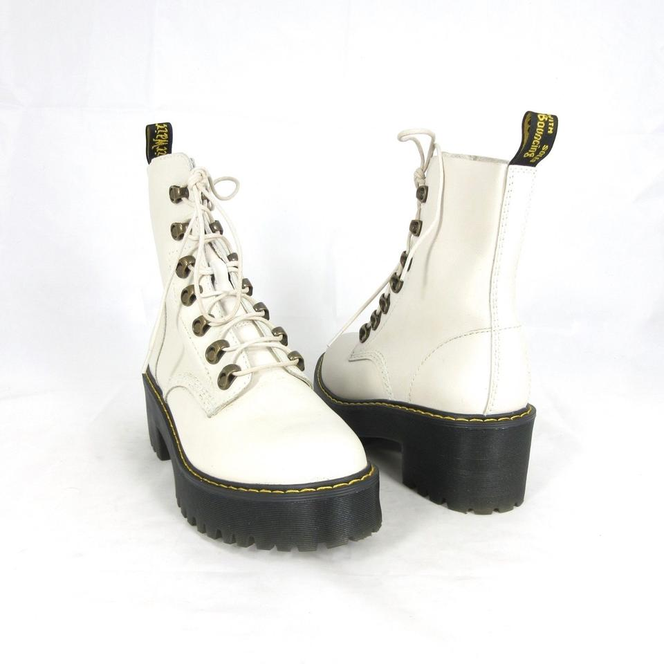 aliexpress really comfortable factory price Dr. Martens White - Bone Leather Leona Lace Up Temperley W/ Box New 1  Boots/Booties Size US 7 Regular (M, B)