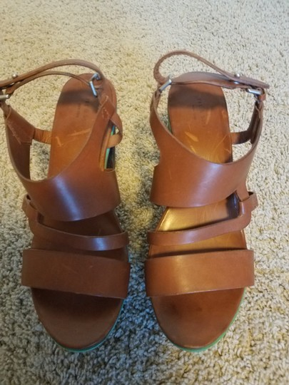 Rag & Bone Chunky Leather Brown Platforms