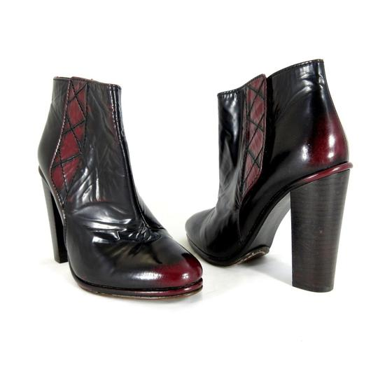Opening Ceremony Leather Platform Punk black red Boots