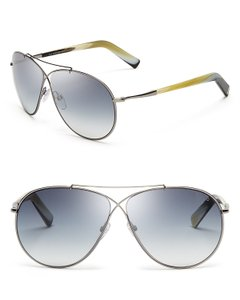 5122fdf27232 Tom Ford NEW Tom Ford Eva TF0374 Blue Mirrored Aviator Sunglasses - item  med img