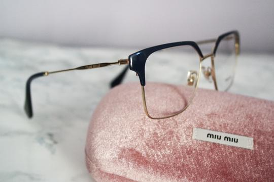 Miu Miu NEW Miu Miu VMU52O Navy Oversized Square Wired Eyeglasses Frames
