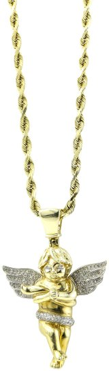 Preload https://item1.tradesy.com/images/-diamonds-and-gold-necklace-22688550-0-1.jpg?width=440&height=440