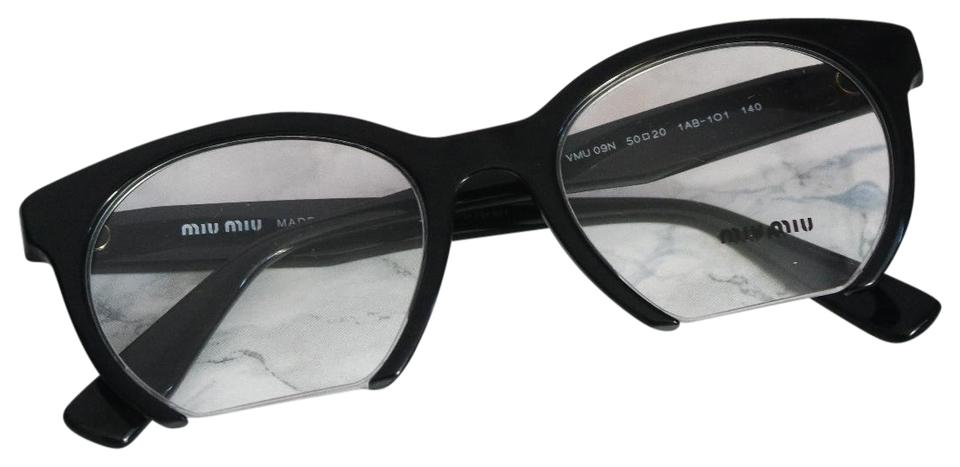 29a8c00fc5cd Miu Miu NEW Miu Miu VMU02P Black Oversized Square Wired Eyeglasses Frames  Image 0 ...