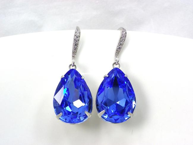 Item - Blue Sapphire Swarovski Crystal Earrings