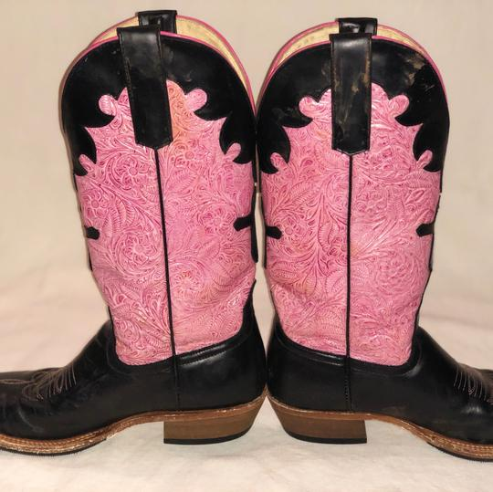 Anderson Bean Boot Company Black and Pink Boots