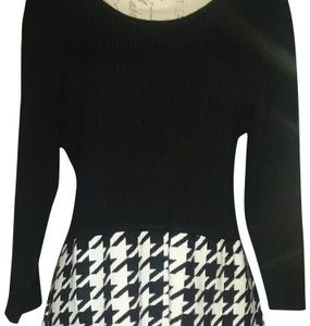 Studio One short dress Black Sweater Houndstooth Cold Weather Winter on Tradesy