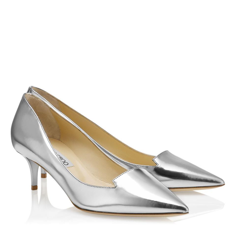 2a97b3e3b59 Jimmy Choo Silver Allure Pumps Size EU 37.5 (Approx. US 7.5) Regular ...