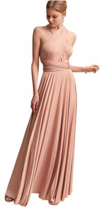 Twobirds Rosewater Jersey Classic Ballgown Formal Bridesmaid/Mob Dress Size OS (one size)
