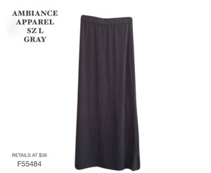 Ambiance Apparel Maxi Skirt GRAY