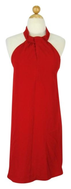 Item - Red 60's Style Halter Cocktail Dress Size 4 (S)