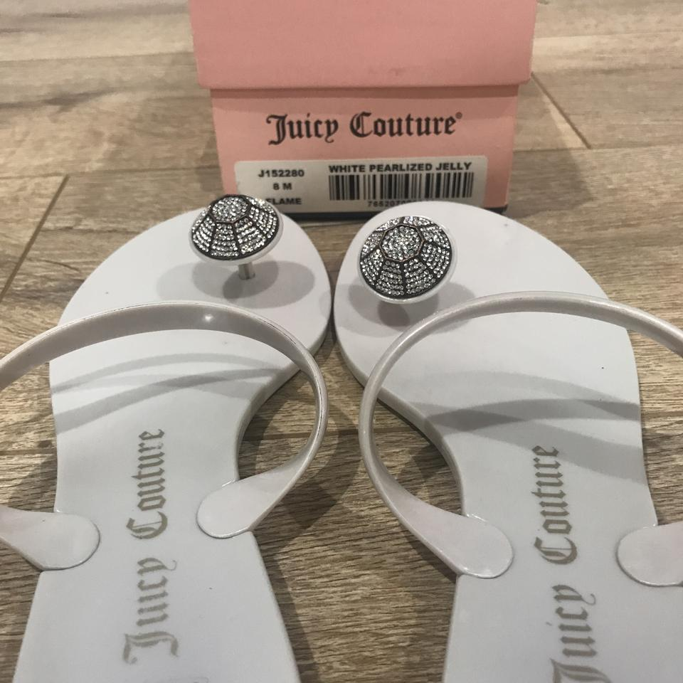 2b6a37099d2 Juicy Couture White Pearl J152280 Pearlized Jelly Sandals Size US 8 ...