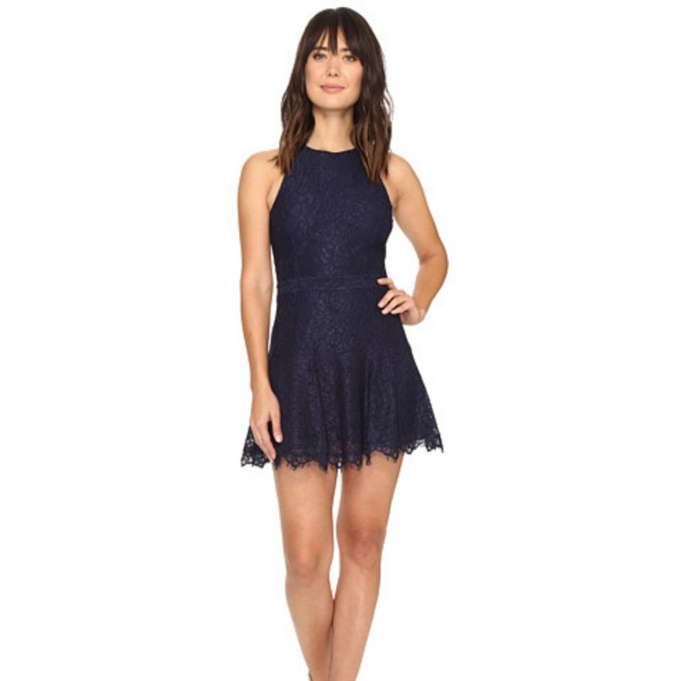 d334910607f Navy Blue Lace Short Cocktail Dress - Gomes Weine AG