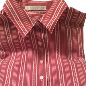 Foxcroft Button Down Shirt Red/white Stripe