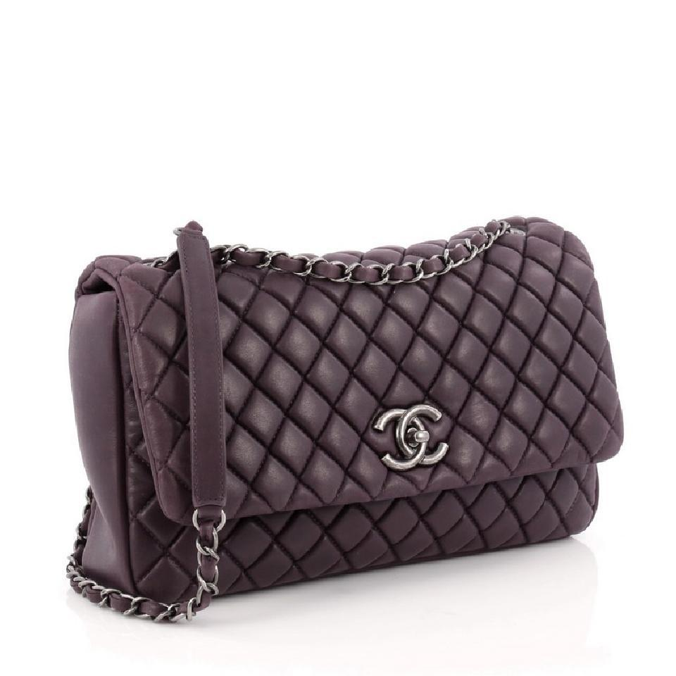 b0719ab92082 Chanel Classic Flap New Bubble Quilted Iridescent Calfskin Large ...