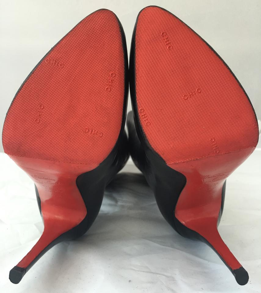 Sole Knee Louboutin Fashion Heel 40 Alti Daf Christian Boots Leather Booties Platform 5it Red Lady High Black PfdOnBR