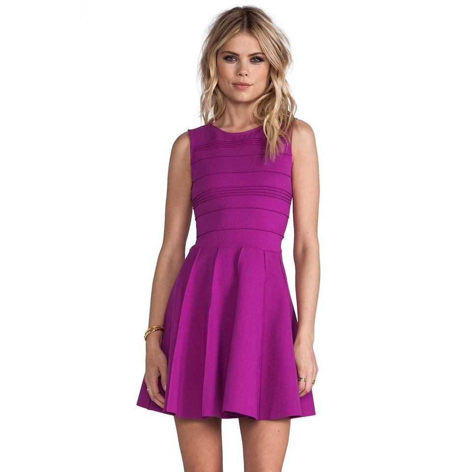 Parker Violet Lacey Fit and Flare Xs Short Cocktail Dress Size 0 (XS ...