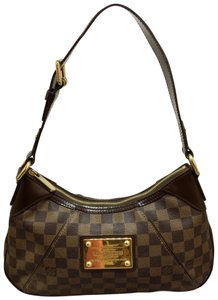 Louis Vuitton Damier Ebene Pm Thames Canvas Shoulder Bag