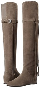 Stuart Weitzman Fringe Over The Knee Thigh High Suede brown Boots
