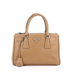 Prada Leather Tote in light brown