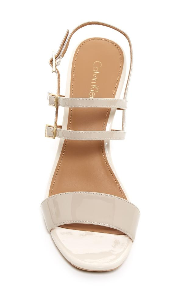 f558680c845 Calvin Klein Cocoon-ivory Caisiey Block Heel Sandals Size US 10 ...