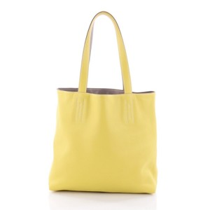 Herms Double Sens Tote in Lime