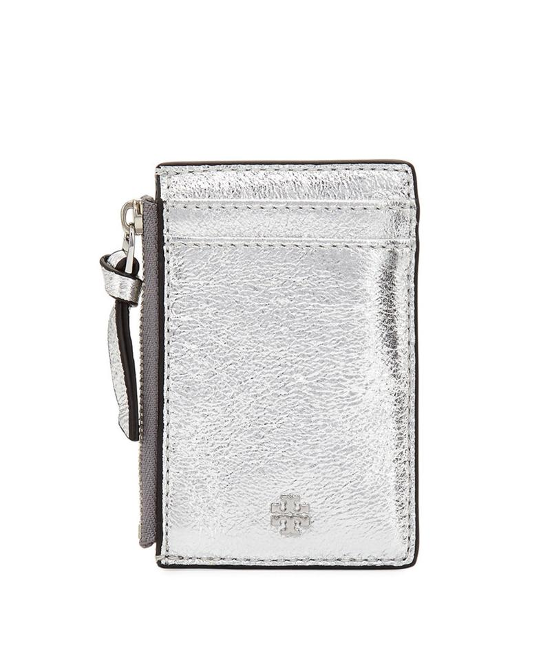 d71f7aaa8e35 Tory Burch Tory Burch crinkle metallic zip card case Image 5. 123456